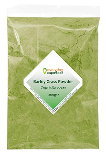 Organic Barley Grass Powder (EU) 200g Premium raw & Natural Barley Grass Pure Keto Ingredient fine Milled Barley Grass Powder Ideal Juice, Smoothies and in Food
