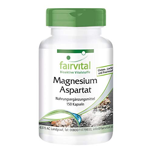 Aspartato de Magnesio - VEGANO - Mineral esencial - 150 Cápsulas - Calidad Alemana