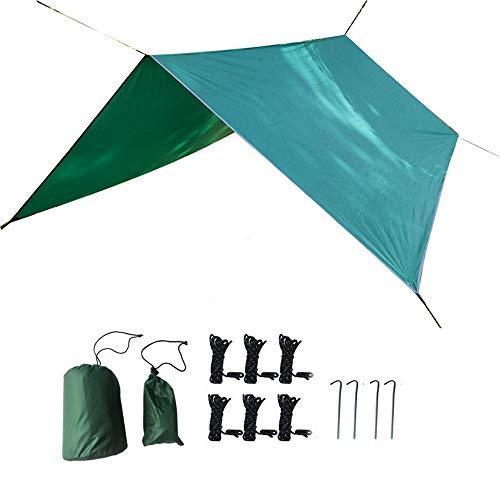 WJQ Camping Tarpaulin - Bâches pour Tente en hamac, Coffre-Fort sécurisé et Facile à Transporter, léger et résistant à la déchirure - Idéal pour la randonnée en Camping en Plein air