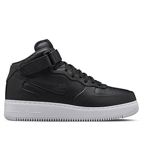 Nike NikeLab Air Force 1 Mid, Scarpe da Basket Uomo, Nero, Nero, Bianco, 46 EU