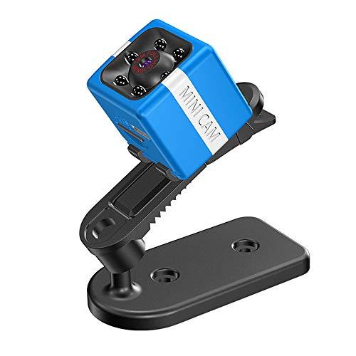 Zwbfu 1080P 12MP Mini Micro cámara Full HD Video CAM Visión Nocturna Audio Detección de Movimiento para bebé Mascota Oficina al Aire Libre Coche Seguridad en el hogar con Clip Montaje en cámara Cable