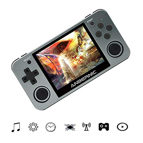 settlede RG350M Handheld Game Console with 3.5-inch IPS Screen Preloaded with 10,000 Games, Retro Game Gaming Machine IPS Screen Stuart Tony Flashing PSP Optimized Version Handheld for Children