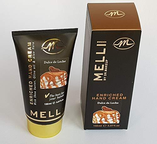 MELLI Handcreme 150 ml - Dulce de Leche, Intensivpflege für sehr strapazierte Hände mit angenehmen Karamellduft, spendet viel Feuchtigkeit, sofort lieferbar