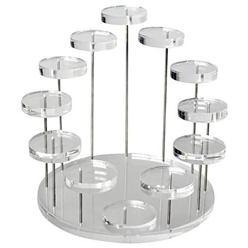 liquan Espositore per espositori per orecchini a Forma di anello in acrilico multistrato di Moda Supporto per orecchini con pietre preziose Espositore da tavolo