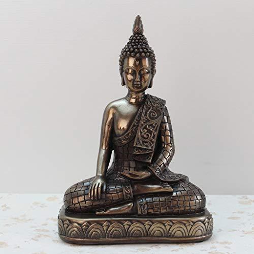 GAOLE Decoración de la Estatua de Buda, Esculturas, Decoraciones para el hogar Sala de Estar Muebles de gabinete de Vino