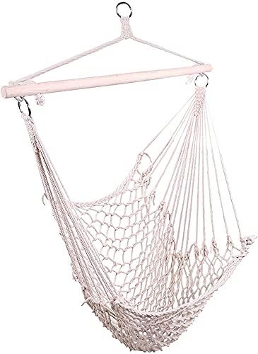 Wzrx7 - shop Silla de Aire Durable de Aire Swing Beige Hamaca Net algodón Colgando Silla de Cuerda 150 KG Capacidad para Puertas de Garten de Interior al Aire Libre. (Size : Only Hanging Chair)