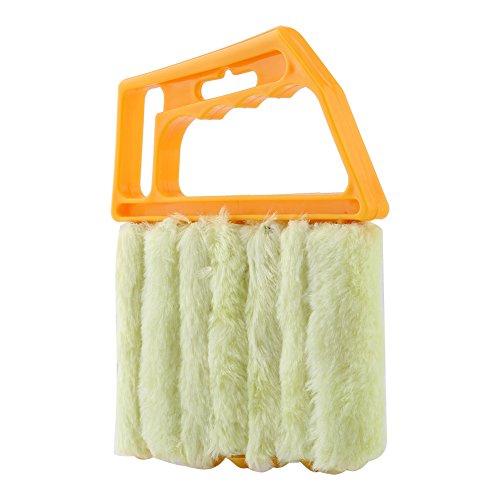 Mini Cepillo De Limpieza para Persianas Práctico Persianas De Mano Herramienta para La Limpieza del Polvo De La Ventana Lavable para Toldos Revestimiento Vinilo Ventilador para Automóvil