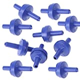 10 unidades 8 mm plástico para bomba aire de acuario, válvula antirretorno, válvula antirretorno, manguera acuario, conector manguera de aire, de plástico, no retorno, válvula de comprobación
