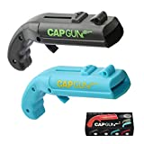 Beer-Cap-Gun,Funny Launcher Shooter Bottle Opener for Creative Drinking Game,Family Party,Bar Drinking (Black&Blue)