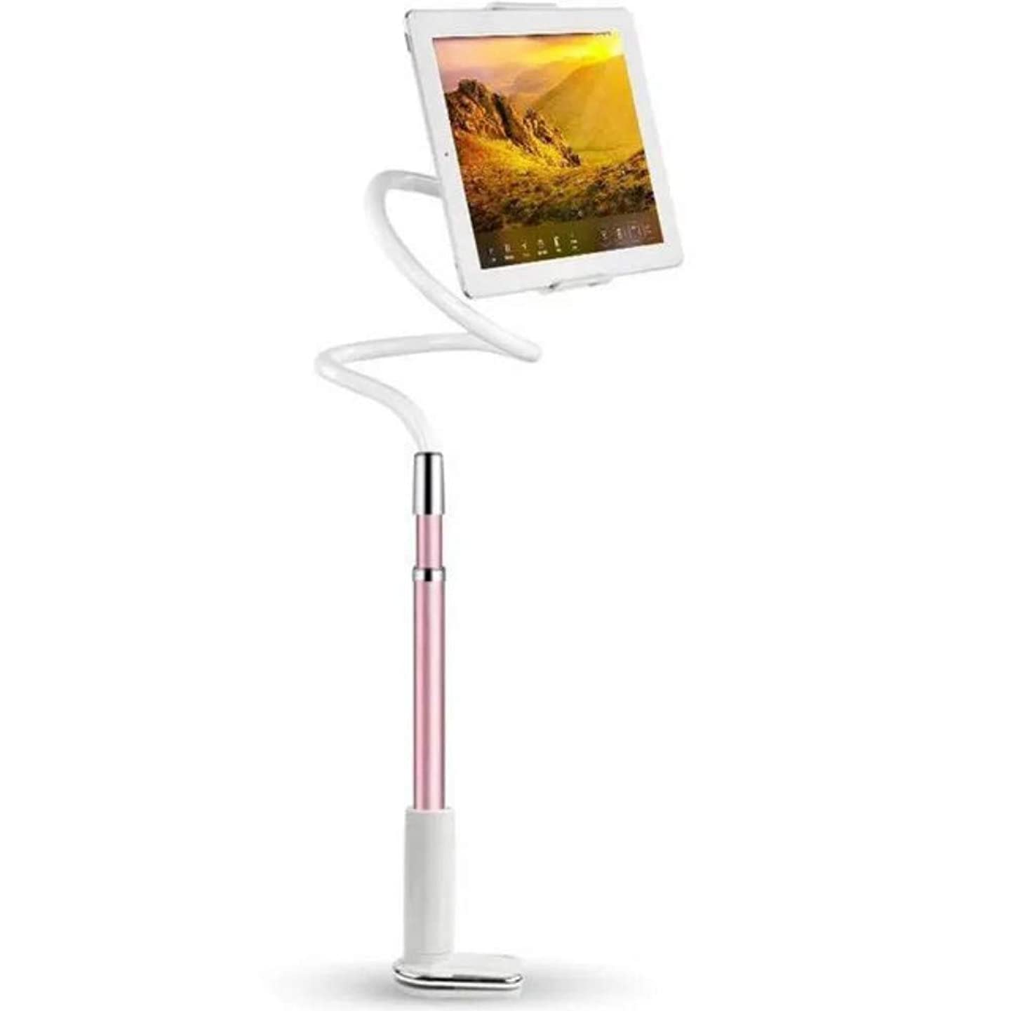 Mydio Tablet Holder,Tablet Stand: Lazy Holder Flexible Arm Tablet Mount Compatible with iPad Mini Pro Air, Nintendo Switch, Samsung Galaxy Tabs, Fire 8 10 - Rose Gold