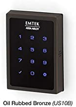 Emtek Empowered Motorized Touchscreen Keypad Smart Deadbolt - Connected by August, Oil Rubbed Bronze (US10B), Model: EMP1101US10B