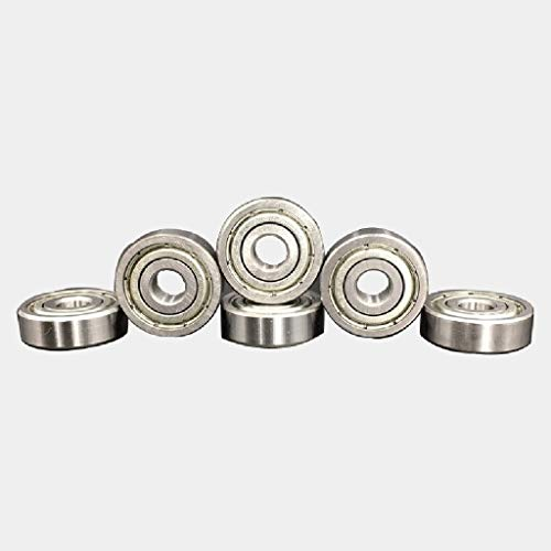 MDD 10PCS Flange Ball Bearing 608zz 623zz 624zz 625zz 635zz 626zz 688zz, For 3D Printers Parts Deep Groove Flanged Pulley Wheel (Size : 626zz)