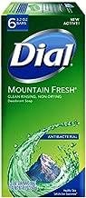 Dial Antibacterial Bar Soap, Mountain Fresh, 3.2 Ounce, 6 Bars