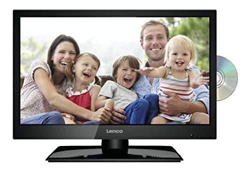 Lenco DVL-1962 18,5 Zoll (47cm) LED-Fernseher mit DVD-Player - Triple-Tuner (DVB-T/T2/S2/C) - 12 Volt Kfz-Adapter - Mit HDMI, USB SCART und Cl+ Anschluss - Fernbedienung - Schwarz