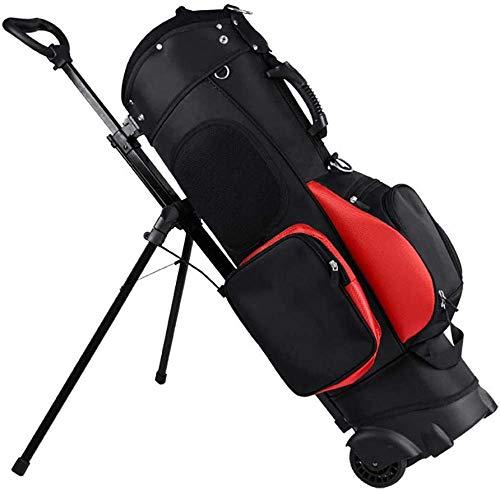 zaizai Golftasche, Reiserad, Standardhalter, Caddy-Golftasche, kompletter Satz Standard-Golf-Trolley-Tasche mit 13 Golfplätzen