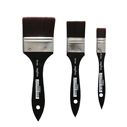Lasurpinsel Künstlerpinsel Set feinster Qualität ( Breite 60 mm, 40 mm, 20 mm ) Grundierpinsel Verwaschpinsel Pinsel Set