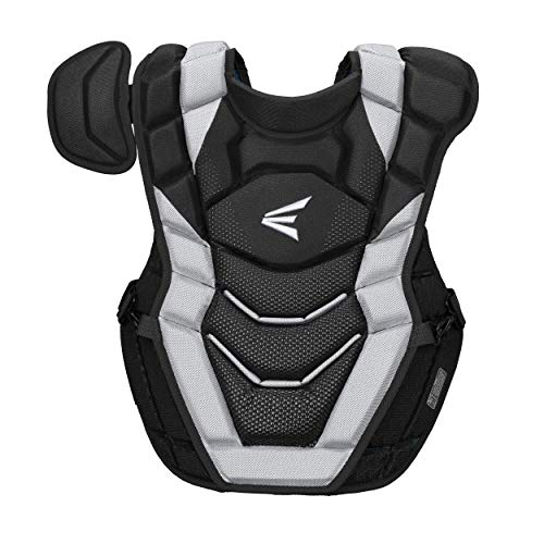 Easton PRO X Baseball Catchers Chest Protector Without Commotio Cordis Foam | Adult | Black | 2020 | Double Layer Design + EVAIR Foam | 4 Point Strap System + Neoprene Back for Superior Fit & Comfort
