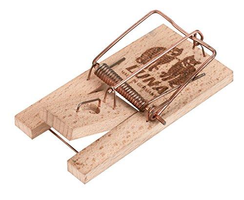 Kerbl 299602 Mausefalle Luna im Pack mit Holzauslöser, 2 Stück