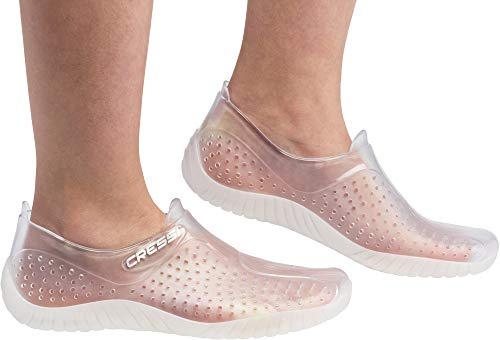 Cressi Water Shoes Escarpines, Unisex Adulto, Claro (Transparente), 38 EU