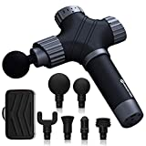 PERFORMANCE GURU Electric Massage Gun Professional Handheld Percussion Massager for Full Body Muscle Recovery and Quiet 35-50dB(A2-Gray)