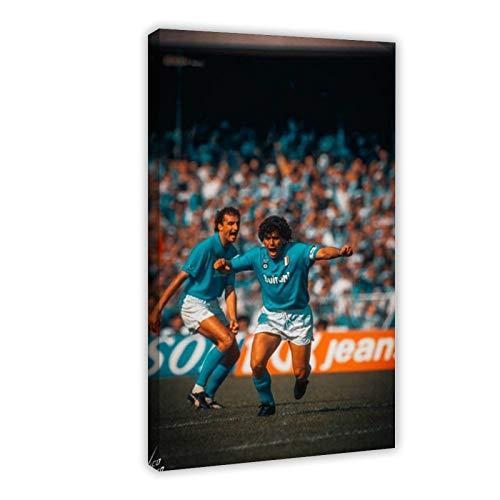 Póster de jugador de fútbol profesional argentino, entrenador, centrocampista Mar-adona Napoli, lienzo para decoración de pared, pintura para sala de estar o dormitorio, 60 x 90 cm