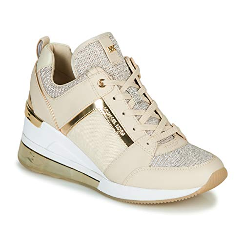 Michael Michael Kors Georgie Extreme Sneaker Damen Beige/Gold - 41 - Sneaker Low Shoes