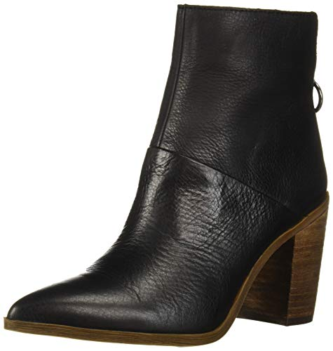 Franco Sarto Women's Mack Ankle Boot, Black Leather, 6 M US