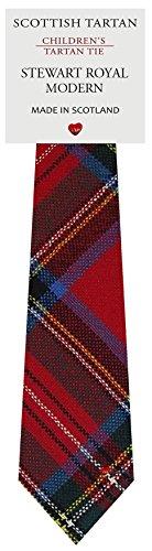 I Luv Ltd Garçon Tout Cravate en Laine Tissé et Fabriqué en Ecosse à Stewart Royal Modern Tartan