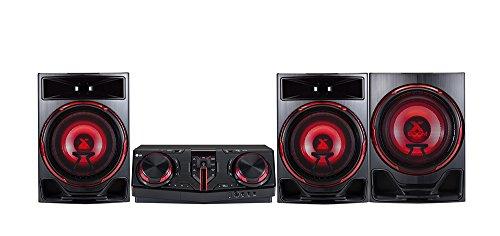 LG CJ88 Kompaktanlage (2900 Watt, DJ Effects, Bluetooth, USB, FM Radio) schwarz/rot