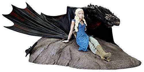 Statue en résime de Dark Horse Game of Thrones: Daenerys Targaryen et Drogon
