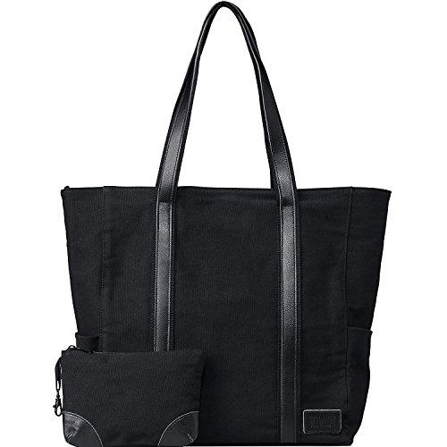 Laptop Tote Bag Computer Handbag 15.6 Inch for Women Canvas Work Teacher Bag