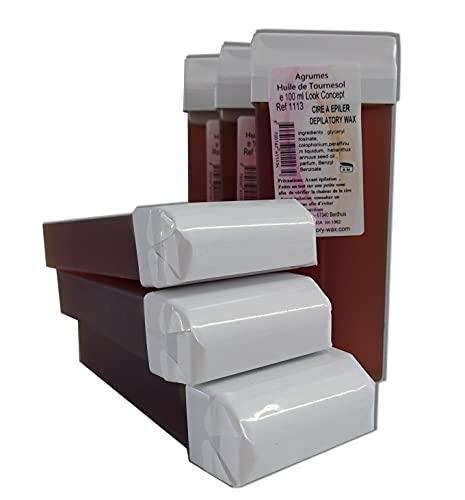Storepil - Cire type MIEL - 6 recharges 100 ml de cire végétale pour épilation parfum agrumes