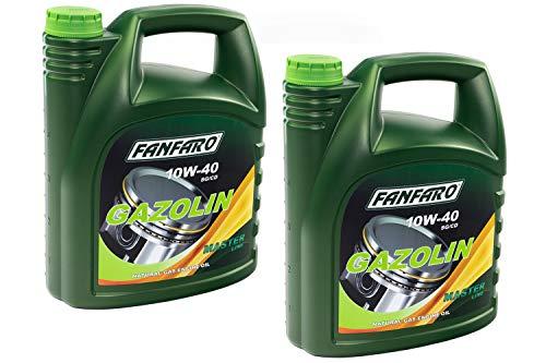 10 (2x5) Liter FANFARO 10W-40 GAZOLIN Motoröl API SG/CD Motoren Öl Oel