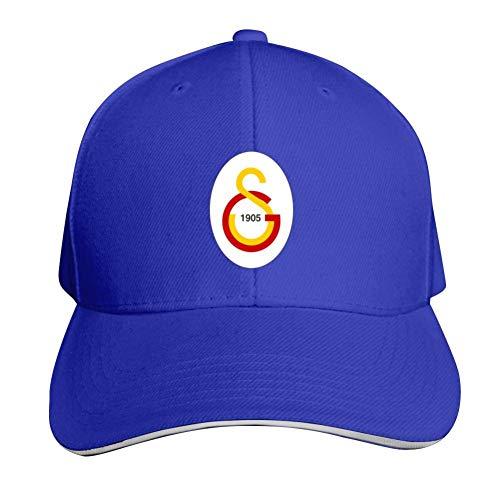 TOOD Galatasaray SPOR Kulubu FC Logo Verstellbare Sandwichmütze für Damen und Herren, 9 Farben Gr. Einheitsgröße, blau