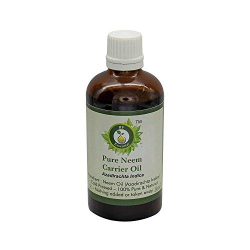 Neem Öl | Azadirachta Indica | Für Pflanzen | Für das Haarwachstum Für die Haut | Kaltgepresste Neem Öl | 100% reines natürlich | Neem Oil |5ml | 0.169 Unzen By R V Essential