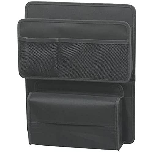 ナポレックス 車用 収納ポケット リアシート専用 純正感覚 シートバックポケット ブラック ベルト&ヒモ取付 ボックスティッシュも収納可 大容量 NAPOLEX JK-43