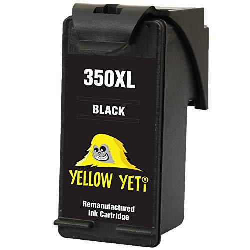 Yellow Yeti Remanufacturado 350XL 350 XL Cartucho de Tinta Negro para HP Photosmart C4280 C4340 C4380 C4424 C4480 C4485 C4524 C4580 C4585 C5280 D5360 Deskjet D4260 D4360 Officejet J6424 J5780 J5785