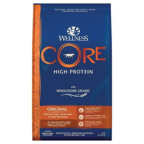 Wellness CORE Wholesome Grains Dry Dog Food, Original Recipe, 24 Pound Bag