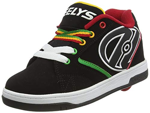 Heelys  Propel 2.0 770603,  Jungen Lauflernschuhe Sneakers , Mehrfarbig - multi (Black/Reggae) - Größe: 38 EU