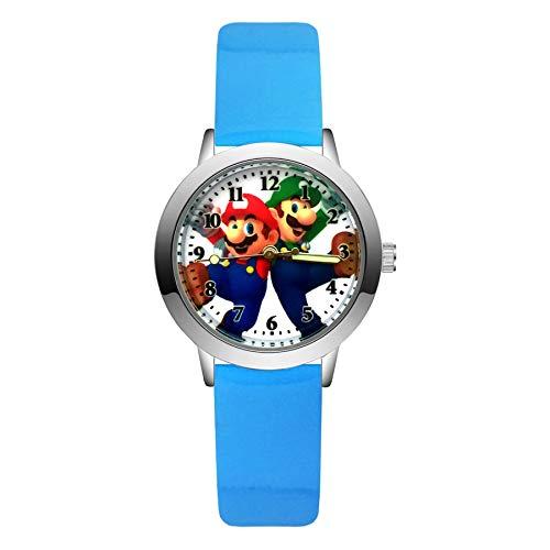 XINTENG Mario Bros horologe moda lindo lindo estilo Mario relojes niños niños estudiantes niñas niños cuarzo cuero reloj reloj