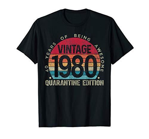 40th Birthday Retro Limited Edition 1980 Quarantine Birthday T-Shirt