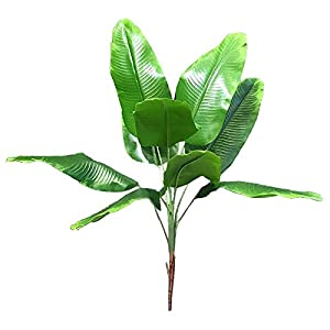 YIZAN Artificial Plants Tropical Leaves Banana Tree Faux Leaf of Plant Fake Leaves Indoor Outside Garden Wedding Decor