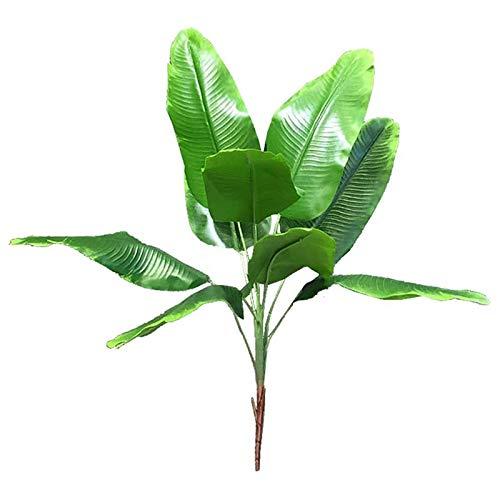 SNOWINSPRING Plantas Artificiales Hojas Tropicales Banana Tree Faux Leaf of Plant Hojas Falsas Interior Exterior JardíN DecoracióN de la Boda