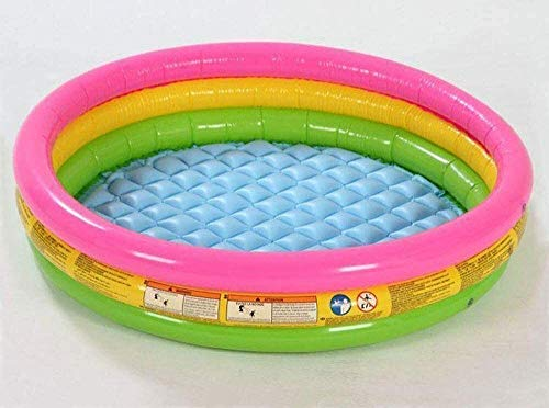 RTUHRJLXJ Summer Fashion Fold Swimming Pool, Game Center Three-Ring Inflatable Pool, Whirlpool, 86 25 cm Suitable for Children Over 3 Years Old