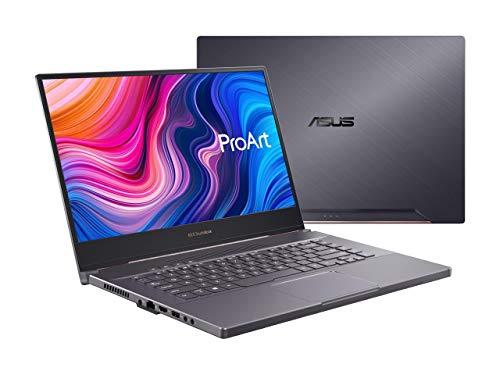 "ASUS ProArt StudioBook 15 Mobile Workstation Laptop, 15.6"" 4K UHD NanoEdge Bezel, Intel Core i7-9750H, 32GB DDR4, 512G+512GB RAID 0 SSD, NVIDIA GeForce RTX 2060, Windows 10 Pro, Star Grey, H500GV-XS76"