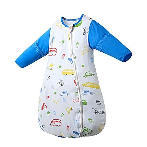 YQQMC Babyschlaf Sack, tragbare Decke Baby Baumwolle Lange Ärmeln, Kleinkind Schlafsack Komfortabel (Color : Royal Blue, Size : Medium)