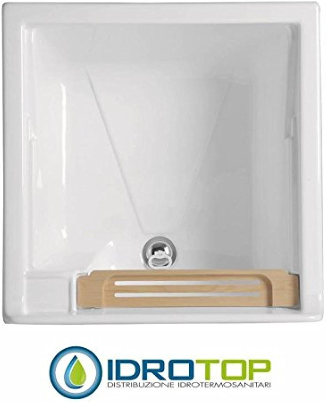 Waschbrett Swash 60x 60, Spüle mit Mobile breiten und tiefen colavene–Hellblau