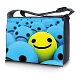 Luxburg® Design Messenger Bag Notebooktasche Umhängetasche für 17,3 Zoll, Motiv: Smiley Highlight