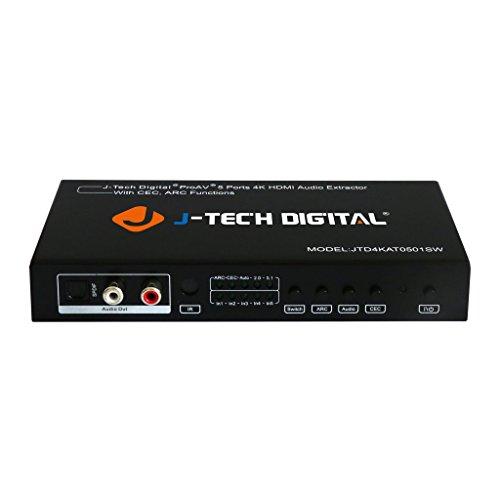 J-Tech Digital 5 Port HDMI Switch & Audio...