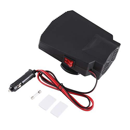 LANTRO JS - Descongelador para calefactor de coche, 12 V, 180-200 W, parabrisas de coche, desempañador de ventana, ventilador de cerámica para calefactor, garantiza una conducción segura